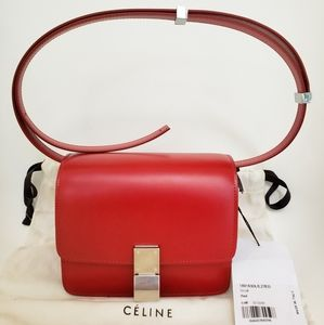New Celine Paris Small Box Red bag